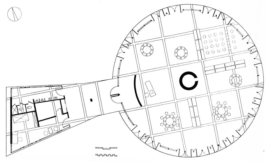 Biblioteca para ni os en hiroshima kenzo tange blog for Planta arquitectonica biblioteca