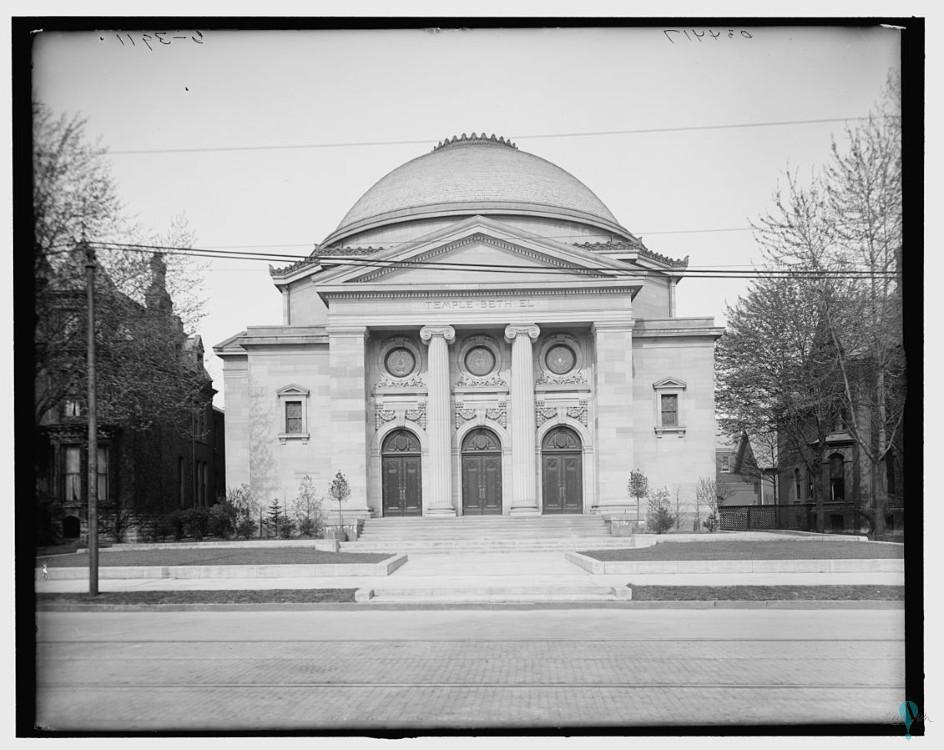 Templo Beth El, ahora Teatro Bonstelle de la Universidad estatal de Wayne
